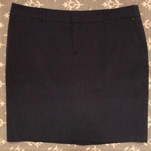 Blue knee length skirt-EUC